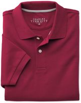 Charles Tyrwhitt Red Pique Cotton Polo Size Large