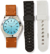 Perry Ellis Blue Face Watch Gift Set