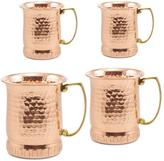 Old Dutch 17 oz. Hammered Solid Copper Sui Generis Moscow Mule Mugs (Set of 4)