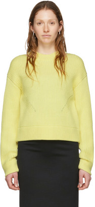 Proenza Schouler Yellow White Label Chunky Rib Sweater