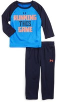 Under Armour Infant Boy's Running This Game Graphic T-Shirt & Track Pants Set