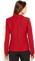 Alice + Olivia Navy & Red Elyse Printed Blazer