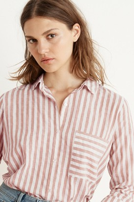 Velvet by Graham & Spencer Tammy Stripe Woven Long Sleeve Button-Up Shirt