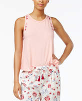 Lucky Brand Embroidered Cotton Pajama Top