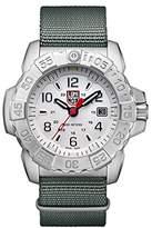 Luminox Men's 'SEA' Swiss Quartz Stainless Steel and Nylon Casual Watch, Color:Grey (Model: 3257)