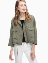 Splendid Wilder Tencel Cropped Military Jacket
