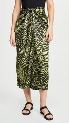 Ganni Stretch Satin Skirt