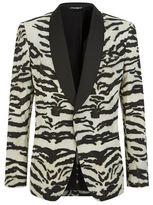 Dolce & Gabbana Zebra Print Martini Jacket