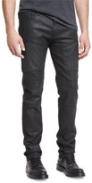 Belstaff Resin-Coated Moto Jeans, Black