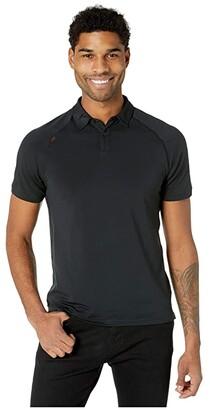 Rhone Deltatm Pique Polo (Black) Men's Clothing