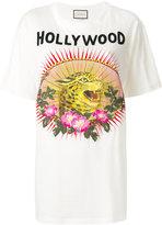 Gucci Leopard motif T-shirt - women - Cotton - XS