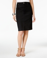 Style&Co. Style & Co Style & Co Petite Denim Pencil Skirt, Created for Macy's