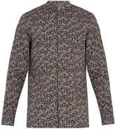 Paul Smith Floral-print grandad-collar cotton shirt