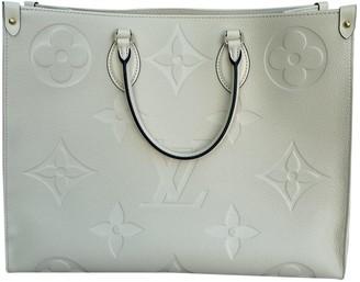 Louis Vuitton Onthego White Leather Handbags