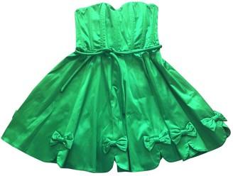 Manoush Green Cotton - elasthane Dress for Women