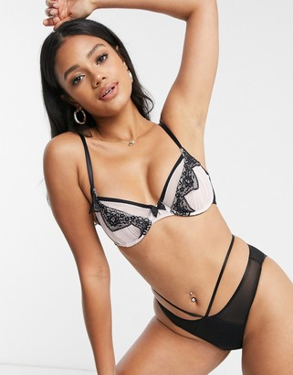 Pour Moi? Pour Moi voila underwired bra in pink & black
