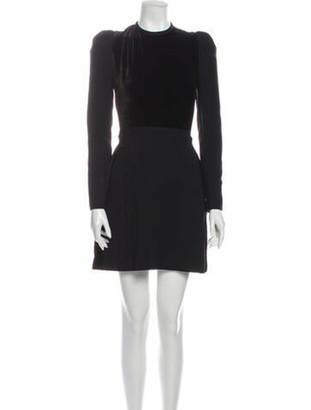 Elie Saab Crew Neck Mini Dress Black