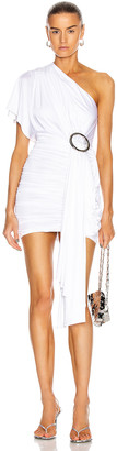 Redemption One Shoulder Dress in White | FWRD