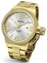 TW Steel Canteen CB86 Yellow Gold Automatic with Sunray Silver Dial 50mm Mens Watch