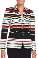 Tommy Hilfiger Striped Two-Button Blazer