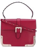 RED Valentino studded satchel bag - women - Leather/metal - One Size