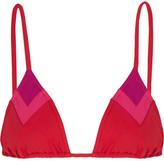 Eres Vanishing Point Triangle Bikini Top - Bright pink