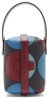 Valextra X La Double J Tric Trac Leather Bag - Blue Multi