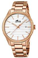Lotus Unisex Quartz Watch with Silver Dial Analogue Display and Rose Gold Stainless Steel Rose Gold Plated Bracelet 18300/1