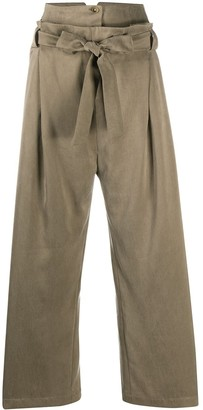 Alysi Belted Wide-Leg Trousers