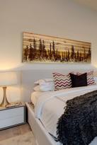 Parvez Taj Panoramic Forest Natural Pine Wood Wall Art