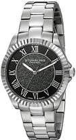 Stuhrling Original Women's Quartz Watch with Black Dial Analogue Display and Silver Stainless Steel Bracelet 743.01