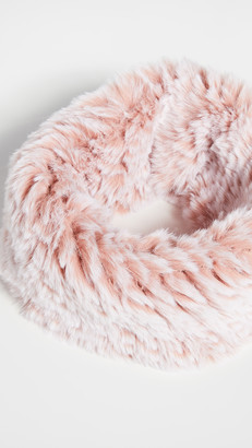 Jocelyn Snowtop Knitted Faux Fur Stretch Cowl Scarf