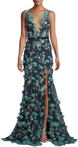 6765b364 Marchesa Notte Navy Dress - ShopStyle