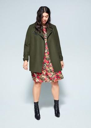 MANGO Violeta BY Structured wool coat khaki - S - Plus sizes
