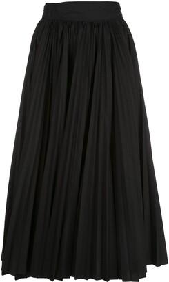 Proenza Schouler Pleated Poplin Wrap Skirt