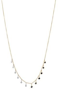 Meira T 14K White & Yellow Gold Sapphire & Diamond Bezel Necklace, 16