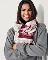 Hollister Plaid Woven Scarf