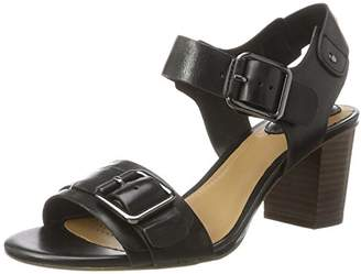 Clarks Relene Dazzle, Women's Wedge Heels Sandals Wedge Heels Sandals, Black (Black Leather), (41.5 EU)