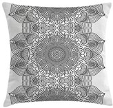 "Indian Folk Pattern Moroccan Pillow Cover East Urban Home Size: 20"" x 20"""