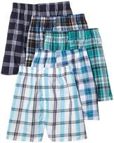 Fruit of the Loom Men's 5-Pack Tartan Woven Boxers (Style 5PHTH / 5PHTHX) - Size 2X