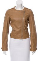 Joie Collarless Leather Jacket
