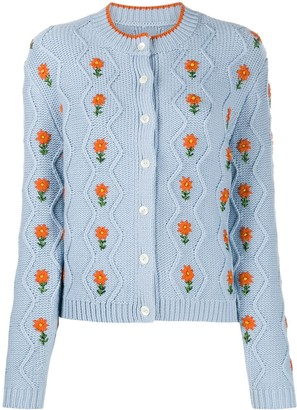 Shrimps Bennett floral embroidered cardigan