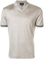 Giorgio Armani V-neck stripe T-shirt