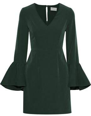 Milly Morgan Fluted Cady Mini Dress