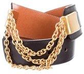 Celine Chain-Link Embellished Belt