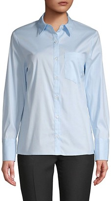 Pure Navy Long-Sleeve Poplin Shirt