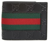 Gucci Men's New Web Wallet - Black