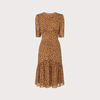 LK Bennett Alexa Leopard Print Silk Dress