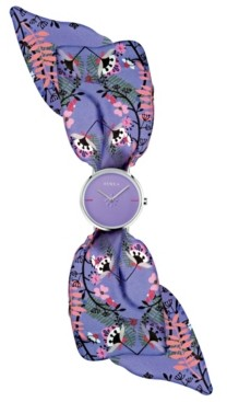 Furla Women's Giada Bandeau Purple Dial Silk Watch