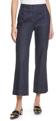 Tory Burch Crop Flare Nonstretch Jeans